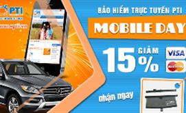 Mobileday- Giảm 15% phí bảo hiểm vật chất oto