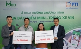 Start-up Miin trao thưởng xe máy Vinfast cho khách hàng