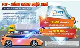 PTI tặng một tháng phí bảo hiểm cho khách hàng tham gia bảo hiểm vật chất ô tô