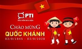 Bảo hiểm PTI chúc mừng Ngày Quốc khánh Việt Nam