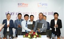 PTI và ECPAY ký kết hợp tác toàn diện